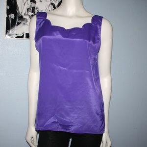 Vintage Sara Stephen purple sleeveless top, size M